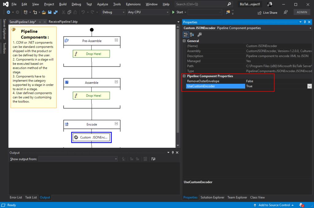 JSON Encoder Pipeline Component for BizTalk Server 2020