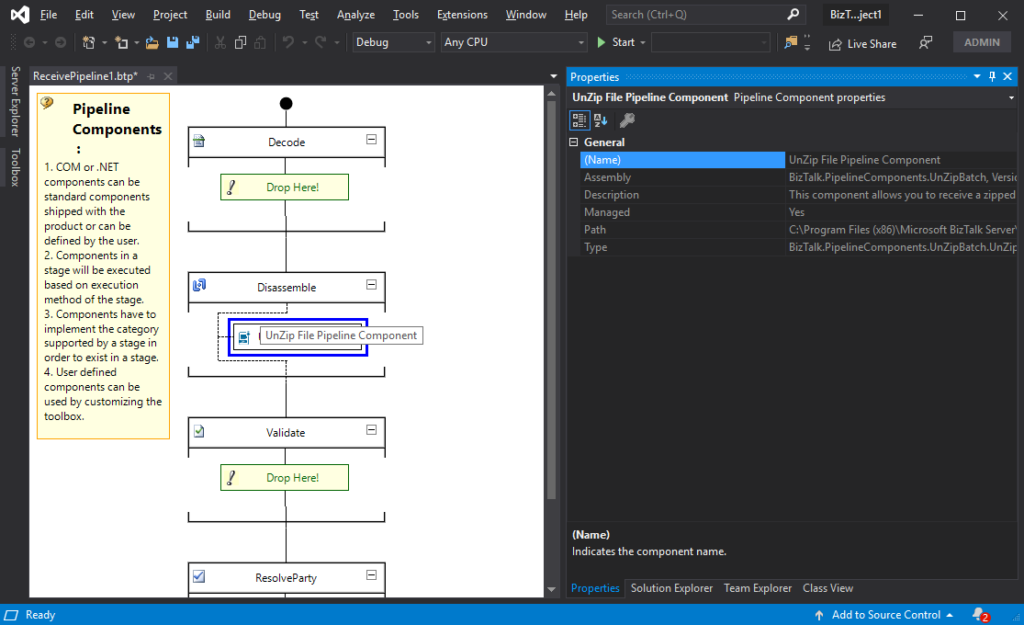 Unzip File Pipeline Component for BizTalk Server 2020
