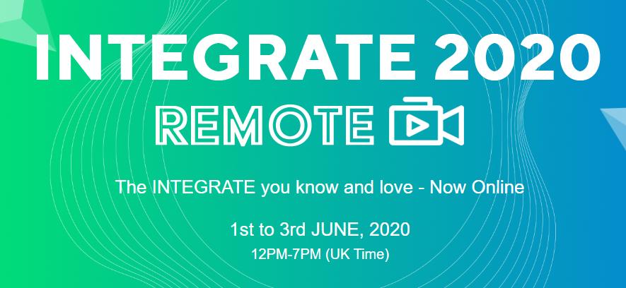 INTEGRATE 2020 REMOTE