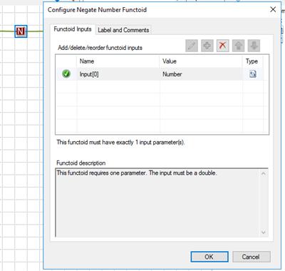 BizTalk Server Math Functoids: Negate Number Functoid