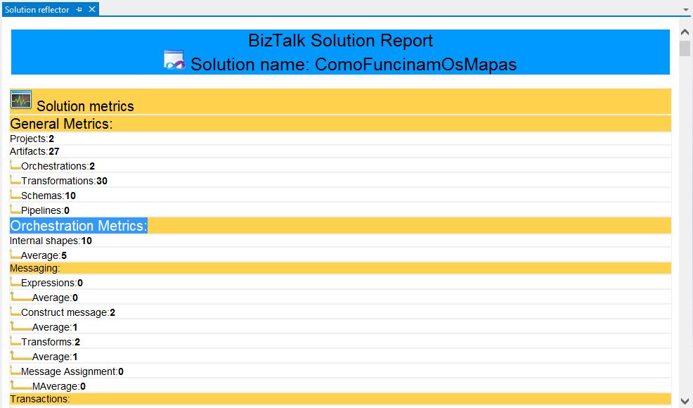 BTSG NoS Addin BizTalk Solution Report