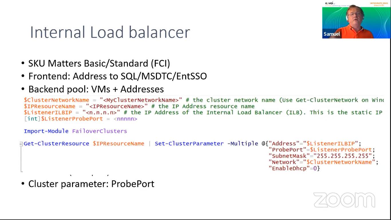Internal load balancer Backend pool