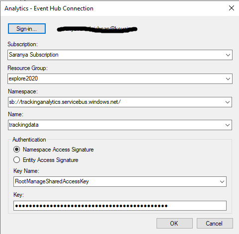 Send BizTalk tracking data to Event hubs