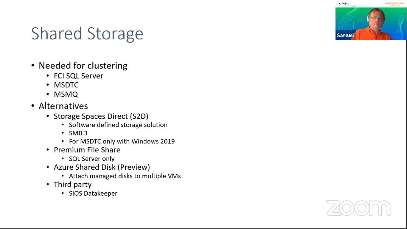 Shared Storage Alternatives