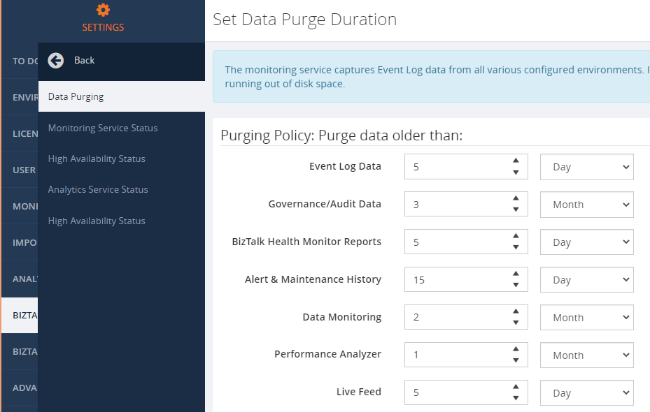 Data Purging