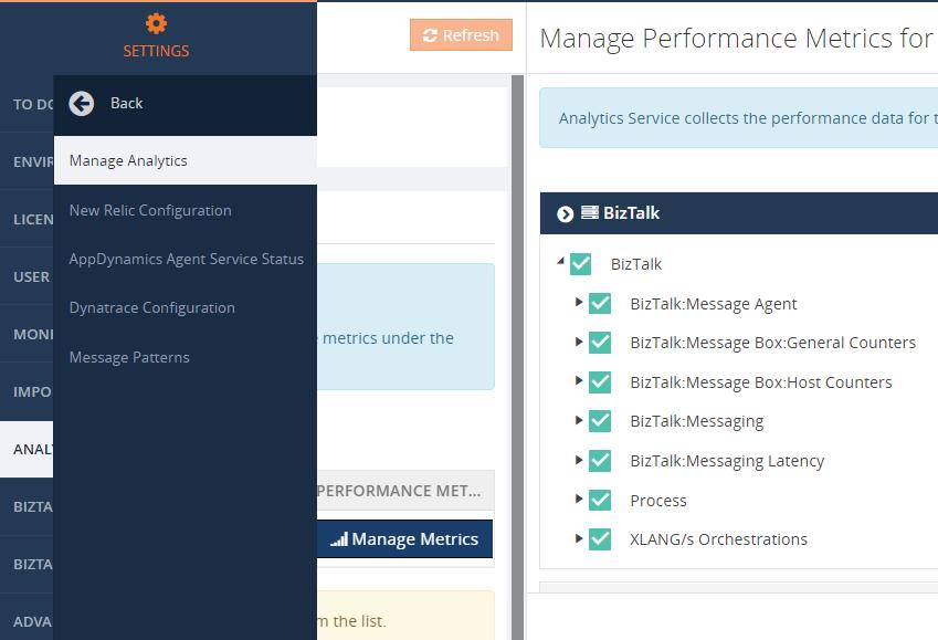 Analytics performance data collection