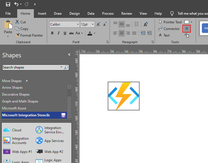 Add a connection points on Visio Stencils