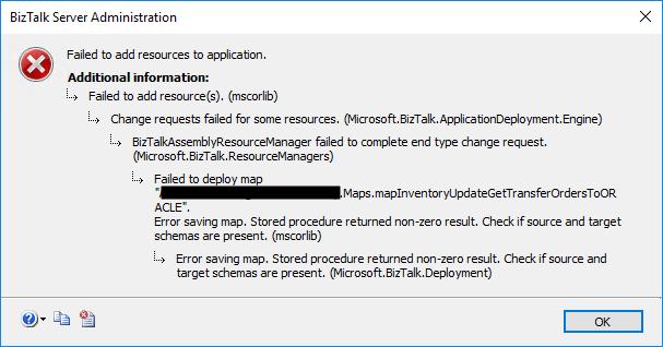 Error saving map. Stored procedure returned non-zero result