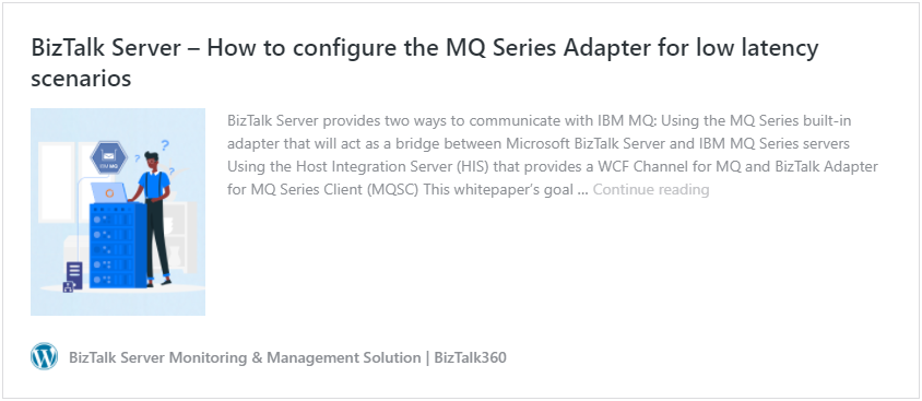 BizTalk Server 2016: How to configure the MQ Series Adapter for low latency scenarios whitepaper