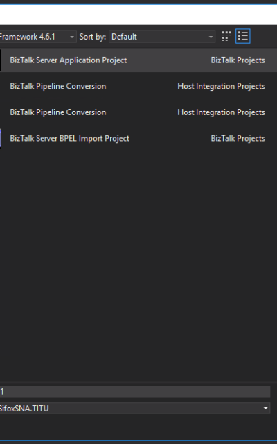 "BizTalk Server 2016: ""Empty BizTalk Server Project"" Template missing from Visual Studio 2015"
